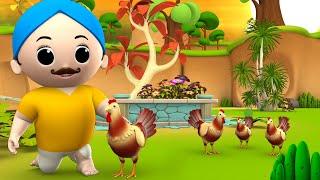 Hen's Small Chicks Story - मुर्गी की छोटा चूजे हिन्दी कहानी 3D Animated Kids Tales Moral Stories