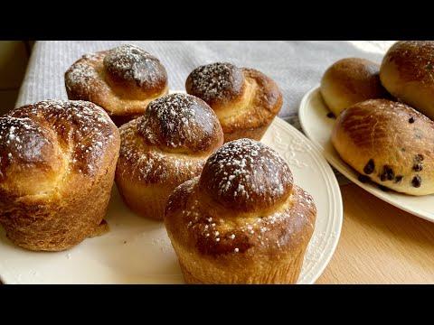 How to make BRIOCHE PARISIENNE classic French recipe - Best Fluffiest homemade Brioches easy recipe