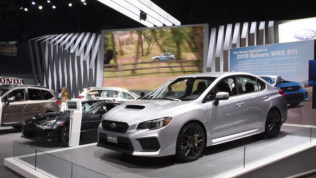WRX STI Overview New York Auto Show YouTube - Car show nyc 2018