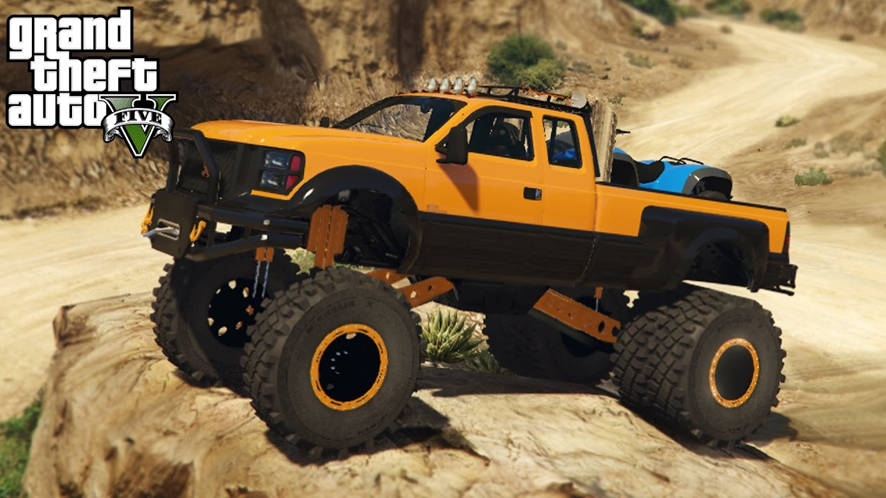 best truck in gta 5 4x4 sandking hd hauling quad mudding off roading gta 5 pc mods youtube. Black Bedroom Furniture Sets. Home Design Ideas
