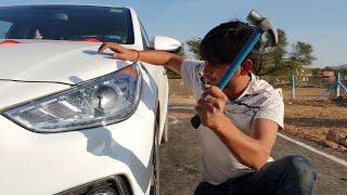 चलो तोड़ कर देखते हैं क्या होता है कार कि लाइट के अंदर - What's inside a car projector Headlight