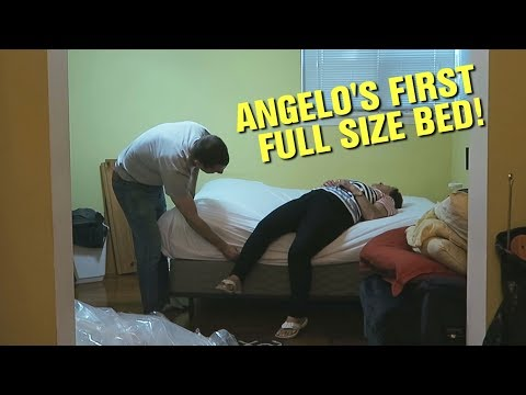 Angelo Gets His First Full Size Bed!