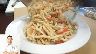 Yaki Udon (Stir Fry Wheat Noodles) - How To Make Series