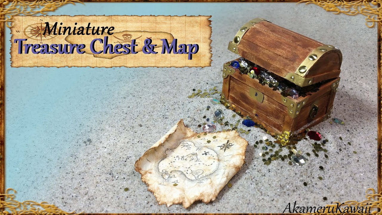 Best Miniature Treasure Chest & Treasure Map - Tutorial - YouTube RI15