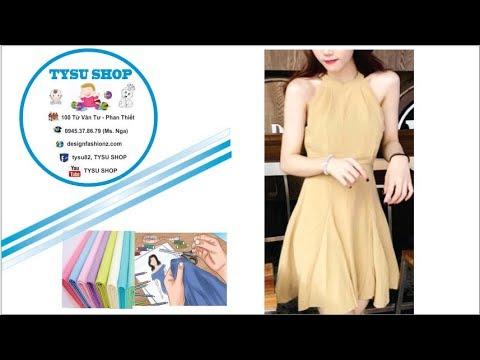 269-thiết Kế Đầm Yếm Xếp Nối|dạy cắt may online miễn phí | sewing online class free | tysu shop