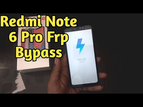 Xioami Redmi Note 6 pro FRP unlock remove Gmail id bypass without pc