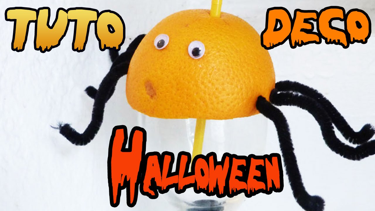 Tuto id e d co pour halloween l 39 araign e en fran ais youtube - Idee decoration halloween ...