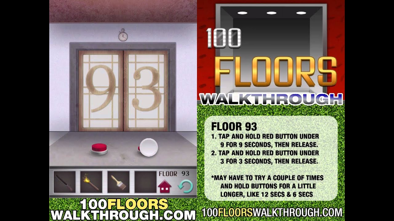 floor 93 walkthrough 100 floors walkthrough floor 93