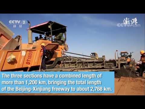 China completes Beijing-Xinjiang desert freeway sections, marking world's longest through desert