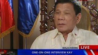NTVL: One-on-one interview kay Pangulong Duterte