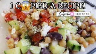 Chickpeas salad, I copied this recipe I Lorentix