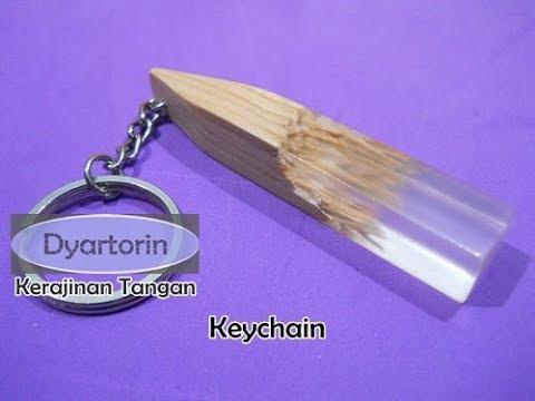 Kerajinan Tangan Gantungan Kunci dari Kayu dan Resin | Wooden Keychain