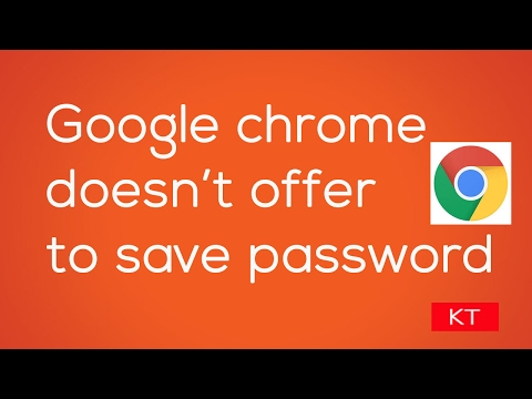 Here's what you do if Google chrome does not ask to save password for websites
