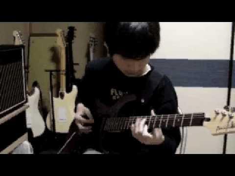 """"""" Sous le ciel de Paris"""" by Edith Piaf  by the electric guitar"""