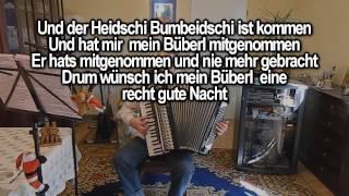 ABA HEIDSCHI BUMBEIDSCHI mit Vokal & Text zum Mitsingen