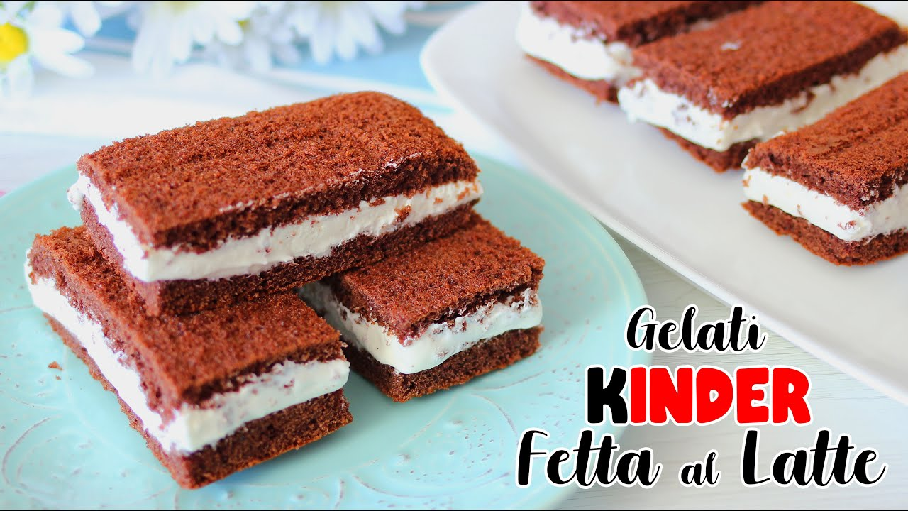 Ricetta Kinder Fetta Al Latte Senza Panna.Gelati Kinder Fetta Al Latte Ricetta Facile Senza Gelatiera Ice Cream Youtube