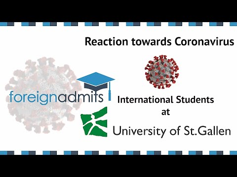 How Coronavirus Will Impact on International Students? Ep20 (University of St. Gallen)