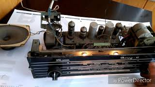 ламповый приемник РЕКОРД-61 настройка на шарманщиков