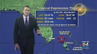 Tropical Depression Number 3 Forms Off Florida Coast