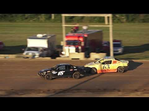Flinn Stock Heat Race #2 at Crystal Motor Speedway, Michigan on 08-24-2019!
