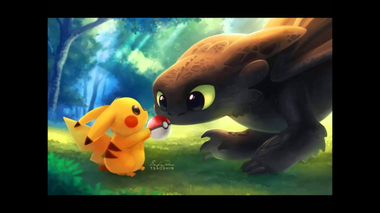 Toothless Dragon Wallpaper Hd Cute Stitch Pickachu And Toothless The Movie Youtube