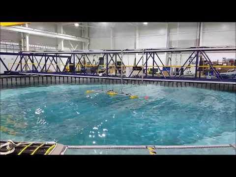 Sea Power Platform tank testing at FloWave - WES ACER 2 project