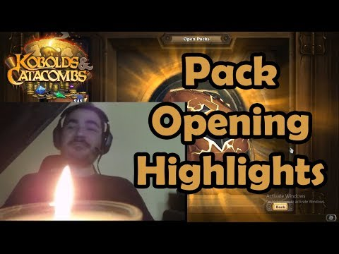 Kripp 400 Packs Opening Highlights [Kobolds and Catacombs, Hearthstone]