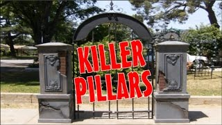 Diy Halloween Haunted House Fence, Columns, & Pillars Props For A Graveyard & Cemetery Display