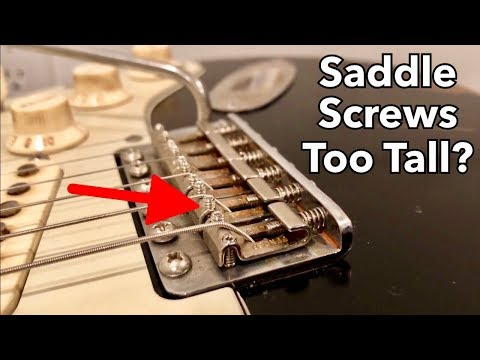 CHEAP & EASY Fix For Strat Saddle Height Screws That Are Too High!