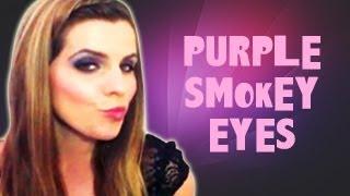 purple smokey eye new year makeup tutorial