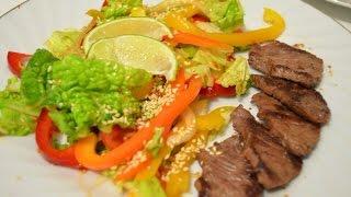 Теплый салат с мясом // Салат Модный // Dianatadi