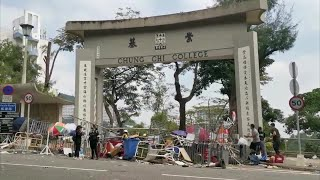 Students in Hong Kong hope for peaceful place to study