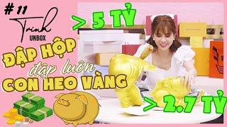 Trinh Unbox #11 | Trinh Trinh ĐẬP HỘP đập luôn CON HEO VÀNG TIẾT KIỆM mừng ngày sinh nhật 31 tuổi