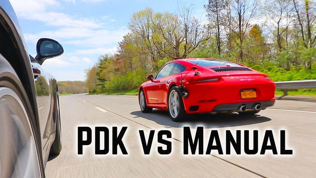 porsche pdk vs manual transmission youtube rh youtube com porsche carrera s manual or pdk porsche 911 gts manual vs pdk
