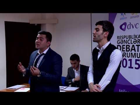 Respublika Gənclər Debat Formu 2015: Payız Kuboku (Final Oyunu)