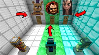 Minecraft DON'T CHOOSE THE WRONG DOOR OF EVIL MONSTERS MOD / FIND THE SAFE DOOR !! Minecraft Mod