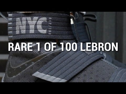 RARE 1 OF 100 LEBRON SOLDIER 10 NYC REVIEW