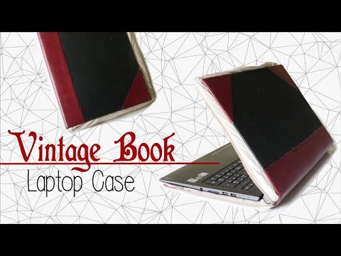DIY ✂ Vintage Book Laptop Case