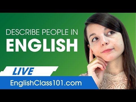 How to Describe People in English - Basic Phrases