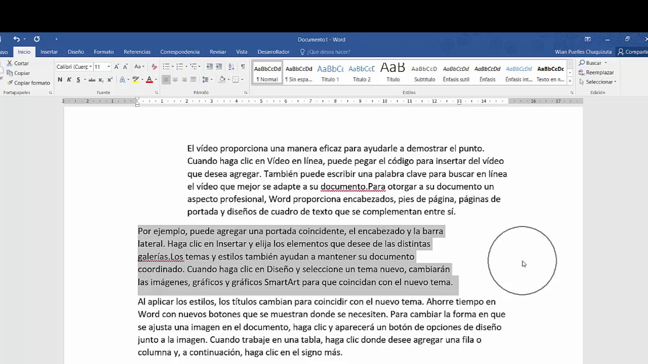 Como aplicar sangria en ms word 2016 2017 youtube for Como anotarse en procrear 2016