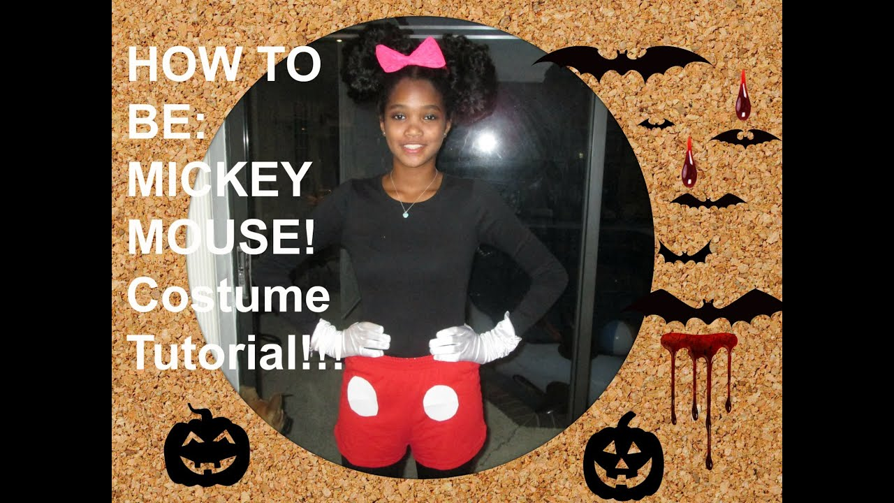diy mickey mouse costume tutorial youtube. Black Bedroom Furniture Sets. Home Design Ideas