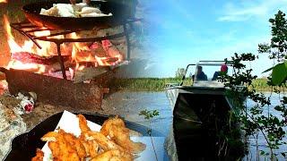 РЫБАЛКА С НОЧЕВКОЙ НА АХТУБЕ Готовим вкуснейшего судака на костре Рыбалка в Астрахани 2021