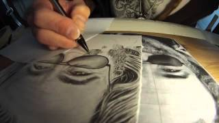 Jerry Garcia Pencil Drawing Time Lapse - By Jeffrey St. Romain