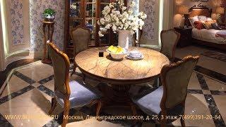 """Видео обзор: Стол обеденный круглый """"Лоренс """", мраморная столешница"""