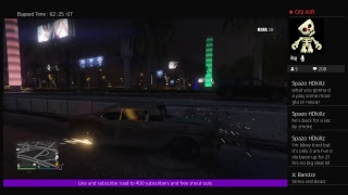 Grand theft Auto 5 livestream (road to 400 subscribers!!!!) Who's ready for the giveaway part 7!!!!!