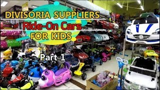 Divisoria Suppliers of Ride-On Cars For Kids Part 1