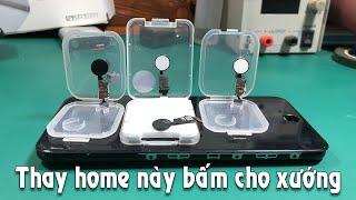 Thay phím home iphone 7 - 8plus bấm xướng như zin không bị quá nhạy