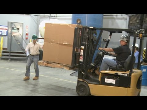 Forklift Accident Truck Vs Pedestrian Youtube
