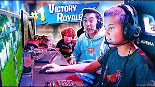 RICEGUM Vs 11 YEAR OLD PROS on FORTNITE