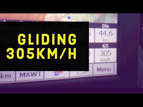 High speed gliding.